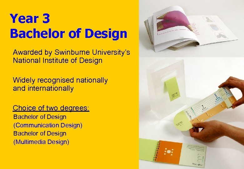 Year 3 Bachelor of Design Awarded by Swinburne University's National Institute of Design Widely