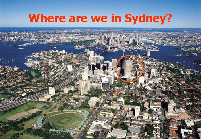 Where are we in Sydney?