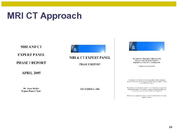 MRI CT Approach 29