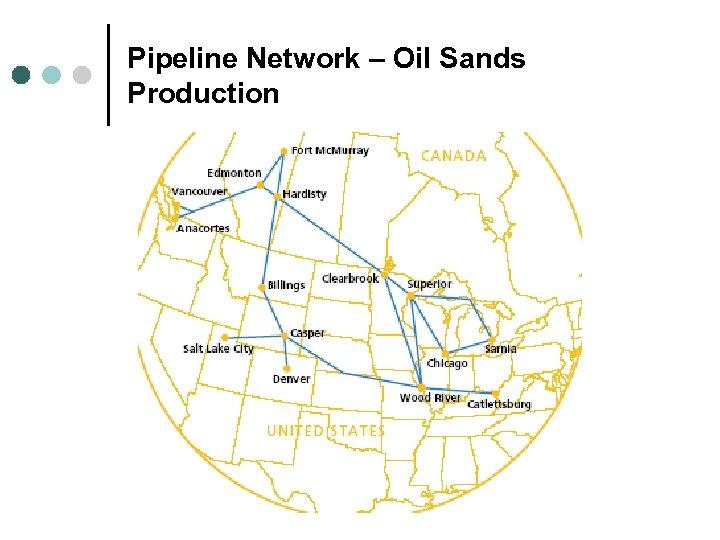 Pipeline Network – Oil Sands Production