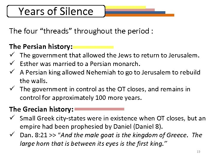 """Years of Silence The four """"threads"""" throughout the period : The Persian history: ü"""