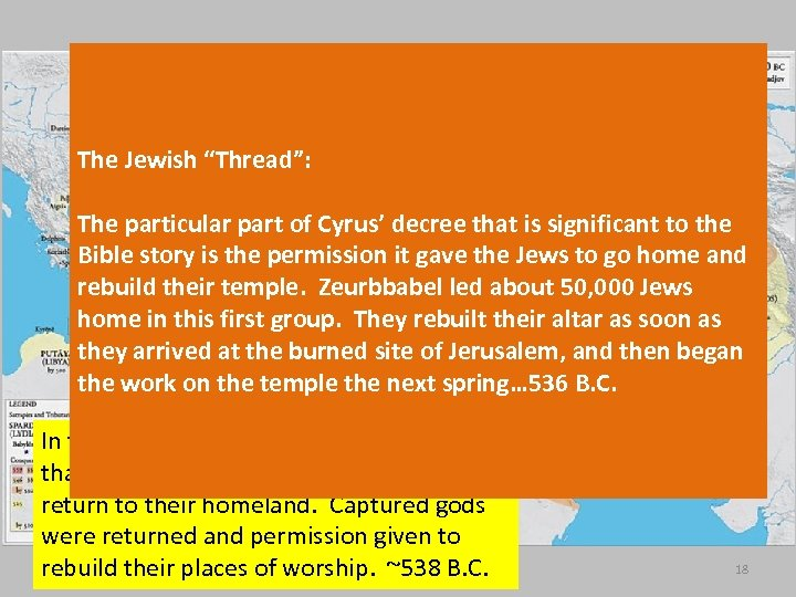 """The Jewish """"Thread"""": The particular part of Cyrus' decree that is significant to the"""