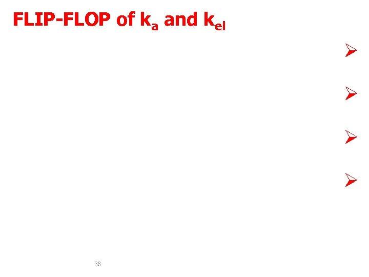 FLIP-FLOP of ka and kel Drugs observed to have flip-flop characteristics Ø are drugs