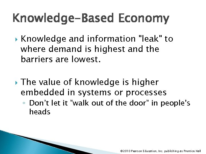 Knowledge-Based Economy Knowledge and information