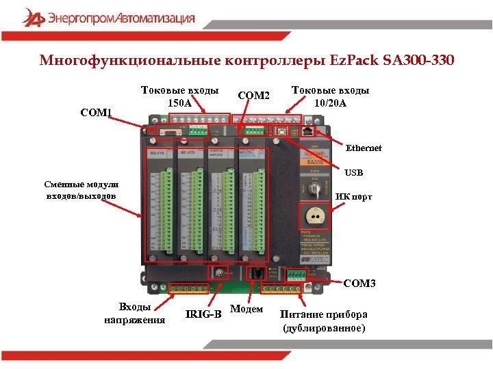 Многофункциональные контроллеры Ez. Pack SA 300 -330 СOM 1 Токовые входы 150 А СOM