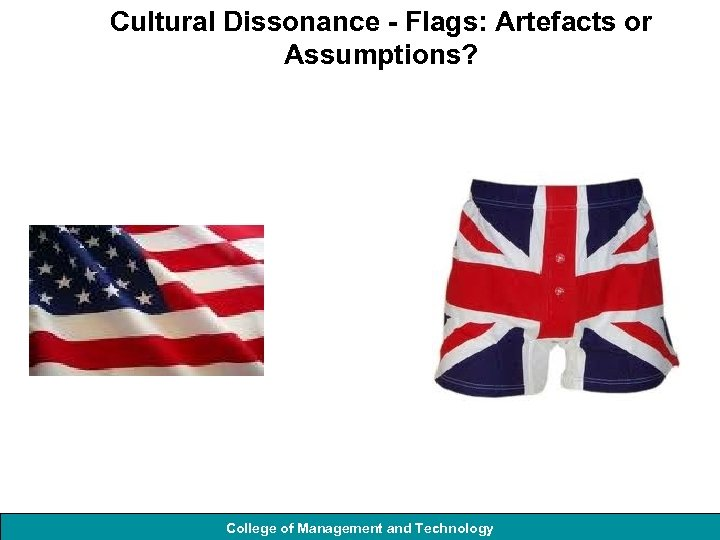 Cultural Dissonance - Flags: Artefacts or Assumptions? College of Management and Technology