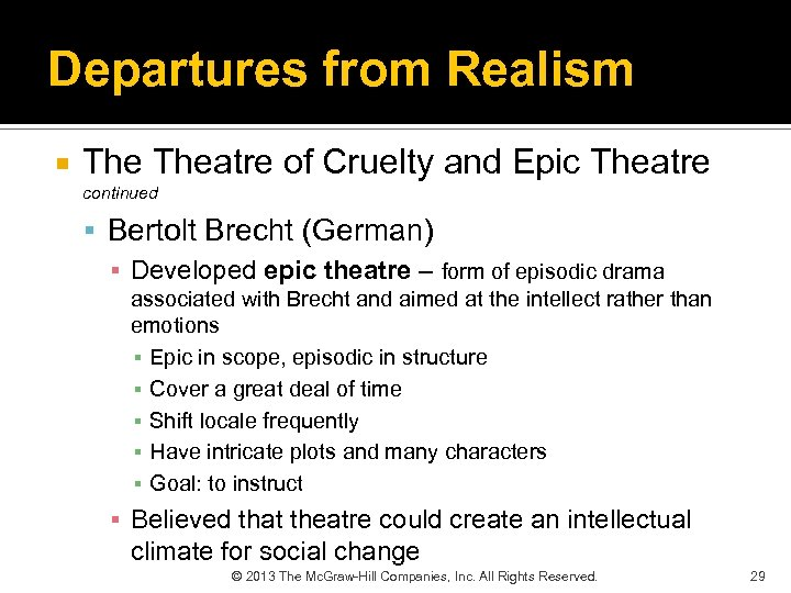 "an analysis of the concept of epic theatre in the works of bertolt brecht a german playwright Bertolt brecht german drama epic theater naturalism theatricalism verfremdungs-effekt ""monstrously delicate"" is how brecht described his poetry (as recalled by."