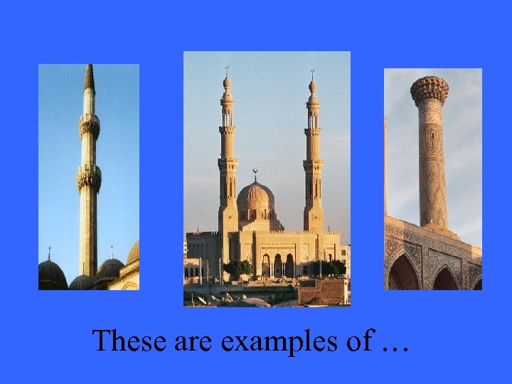 These are examples of …