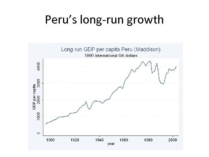 Peru's long-run growth
