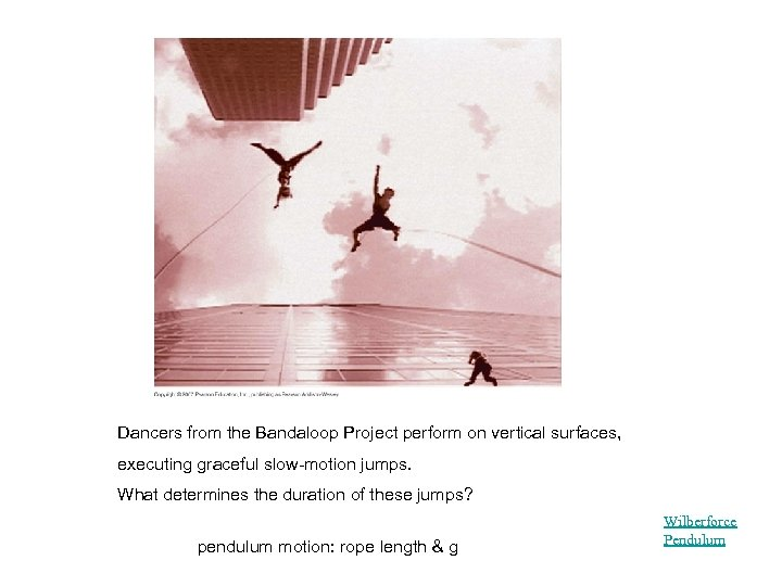 Dancers from the Bandaloop Project perform on vertical surfaces, executing graceful slow-motion jumps. What