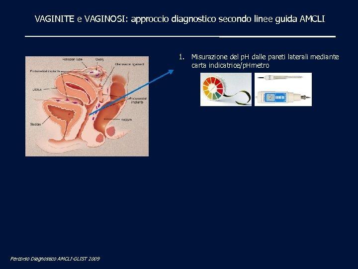 VAGINITE e VAGINOSI: approccio diagnostico secondo linee guida AMCLI 1. Misurazione del p. H