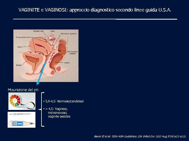 VAGINITE e VAGINOSI: approccio diagnostico secondo linee guida U. S. A. Misurazione del p.