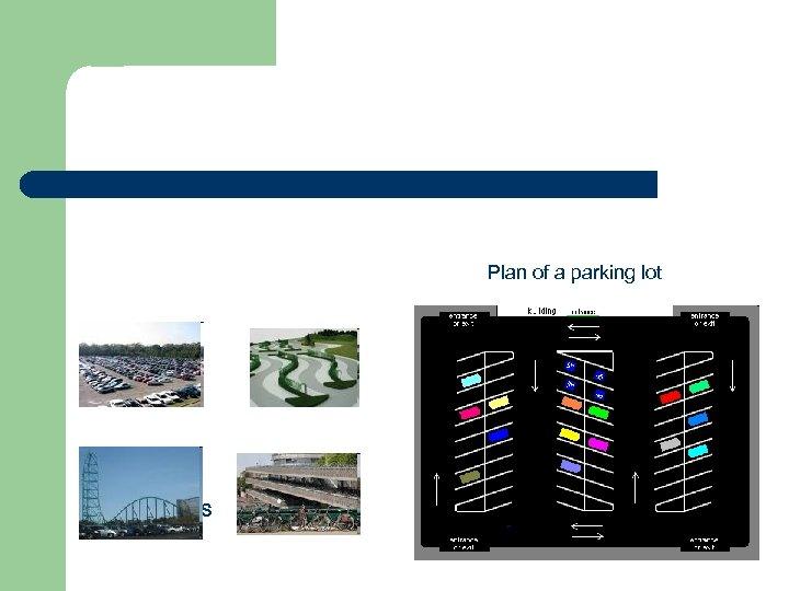 Plan of a parking lot PARKING LOTS