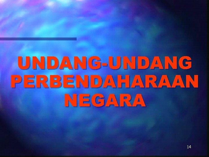 UNDANG-UNDANG PERBENDAHARAAN NEGARA 14