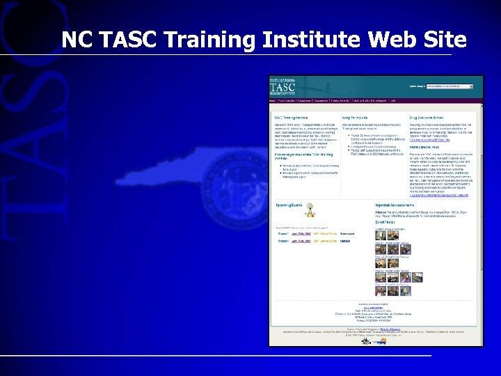 NC TASC Training Institute Web Site