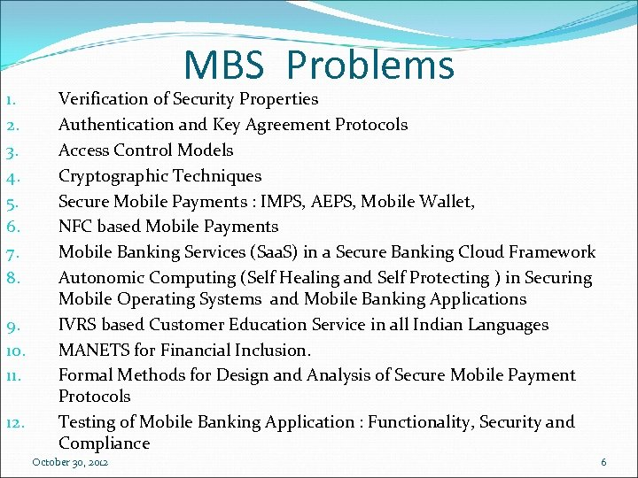 1. 2. 3. 4. 5. 6. 7. 8. 9. 10. 11. 12. MBS Problems