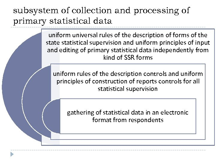 subsystem of collection and processing of primary statistical data uniform universal rules of the