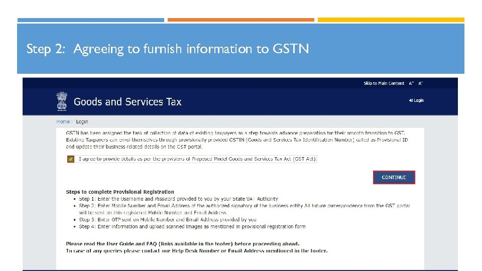 Step 2: Agreeing to furnish information to GSTN 17