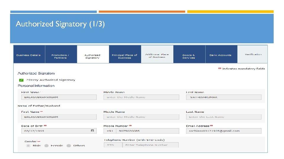 Authorized Signatory (1/3)