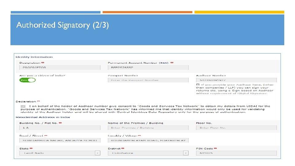 Authorized Signatory (2/3)