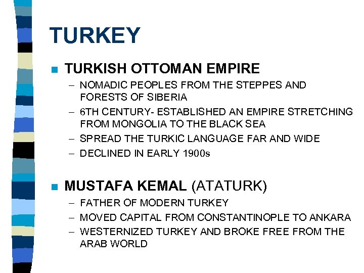 TURKEY n TURKISH OTTOMAN EMPIRE – NOMADIC PEOPLES FROM THE STEPPES AND FORESTS OF