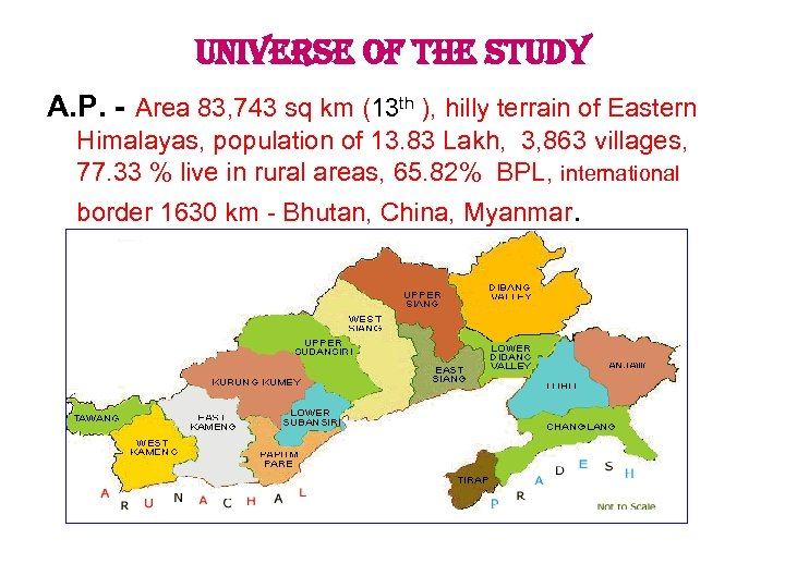 universe of the study A. P. - Area 83, 743 sq km (13 th