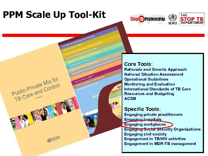 PPM Scale Up Tool-Kit Core Tools: Rationale and Generic Approach National Situation Assessment Operational