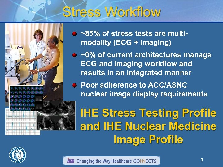 Stress Workflow ~85% of stress tests are multimodality (ECG + imaging) ~0% of current