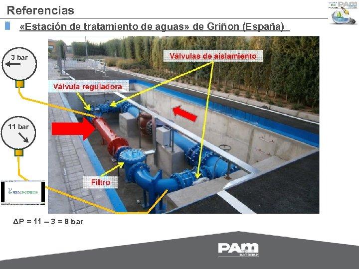 Referencias «Estación de tratamiento de aguas» de Griñon (España) 3 bar 11 bar ΔP