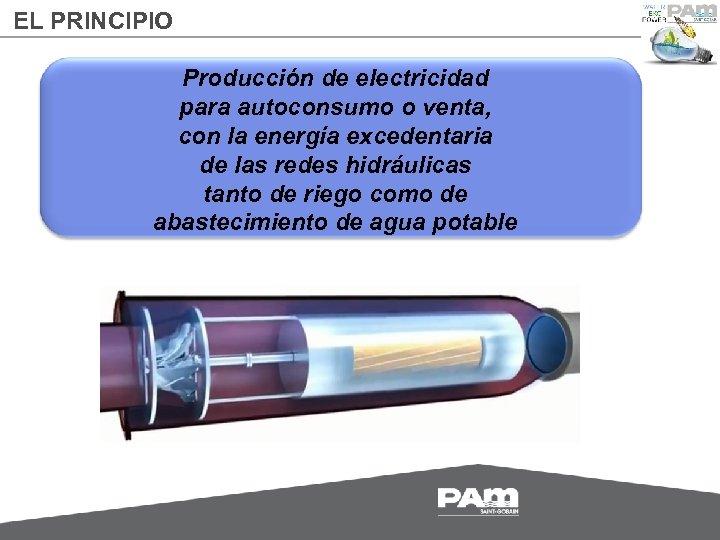 EL PRINCIPIO Producción de electricidad para autoconsumo o venta, con la energía excedentaria de
