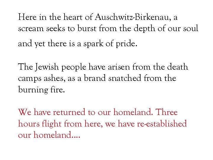 Here in the heart of Auschwitz-Birkenau, a scream seeks to burst from the depth