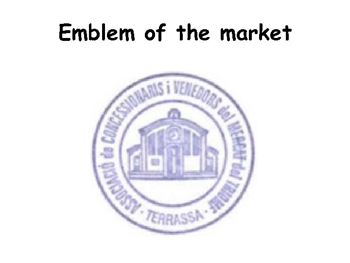 Emblem of the market