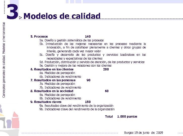 Conceptos generales de calidad. Modelos y herramientas 3 Modelos de calidad 5. Procesos 140