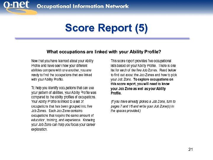 Score Report (5) 21