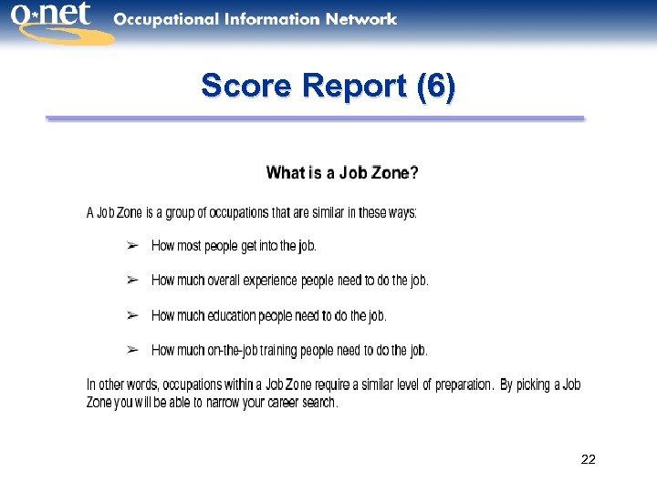Score Report (6) 22