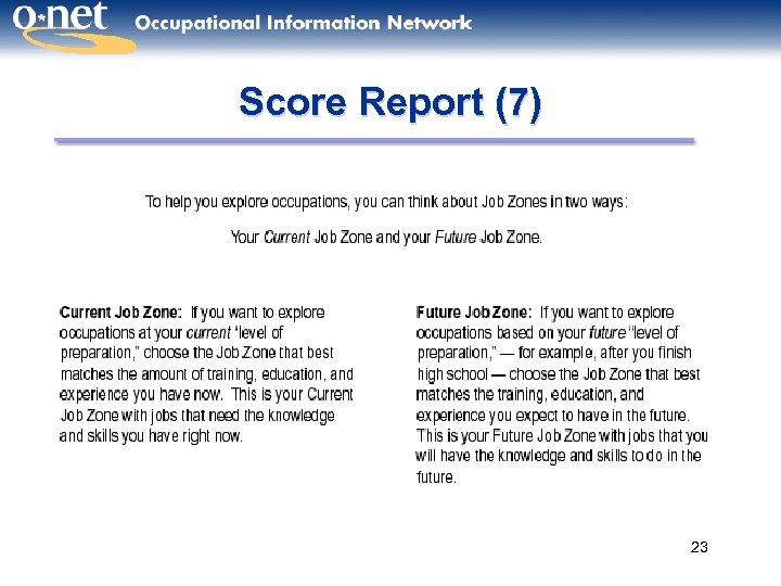 Score Report (7) 23