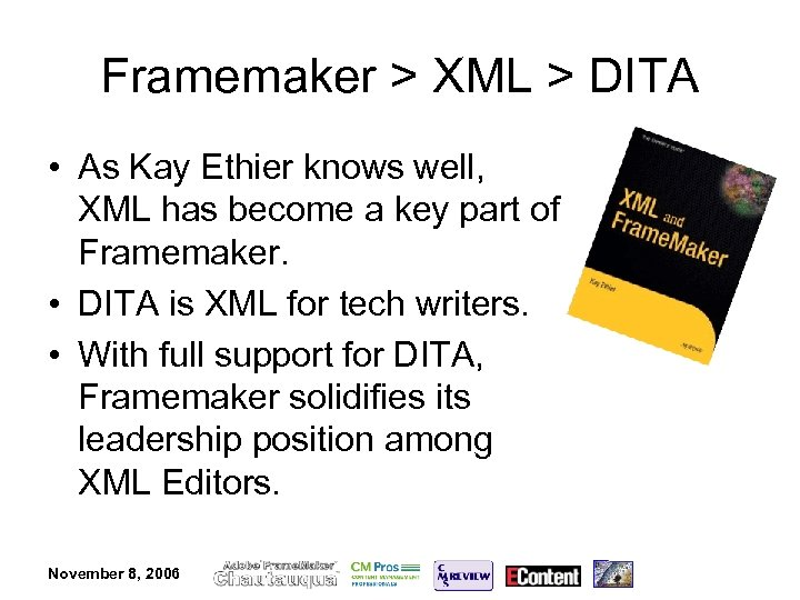 The Future of XML Editing Content Management with