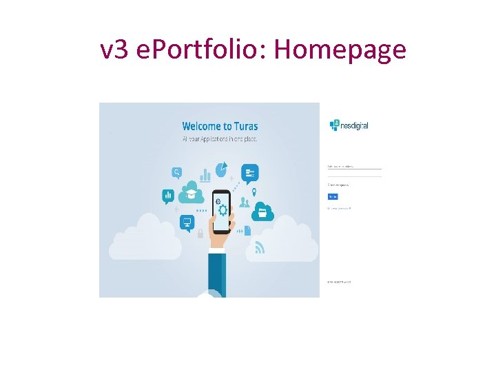 v 3 e. Portfolio: Homepage