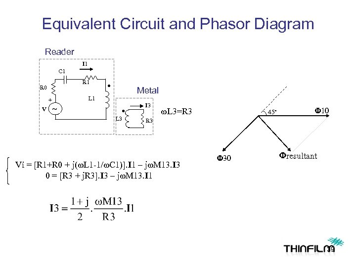 Equivalent Circuit and Phasor Diagram Reader I 1 C 1 R 0 L 1