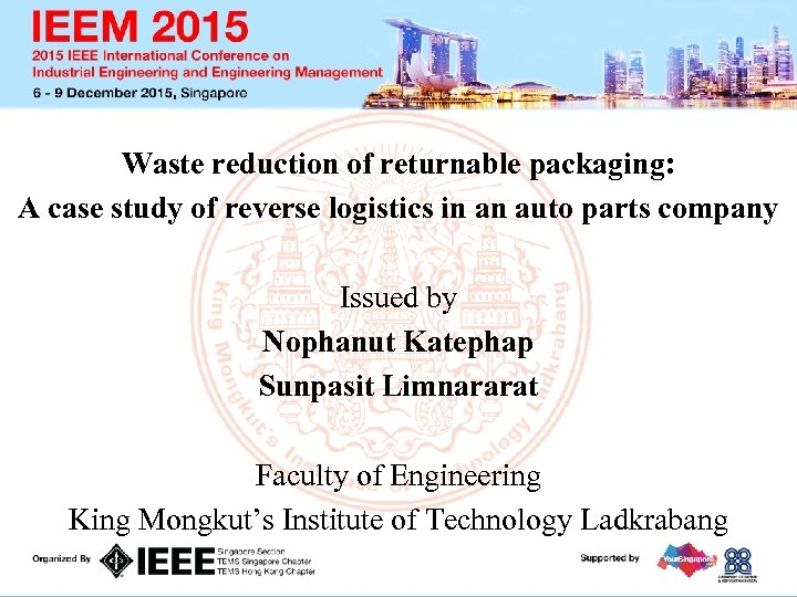 Waste reduction of returnable packaging: A case study of reverse logistics in an auto