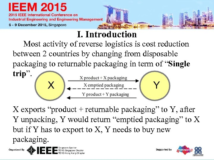 I. Introduction Most activity of reverse logistics is cost reduction between 2 countries by