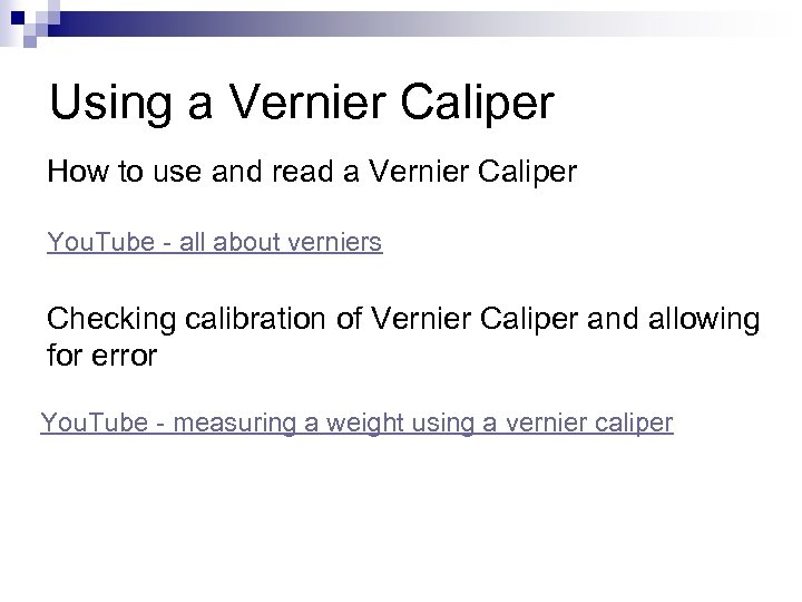 Using a Vernier Caliper How to use and read a Vernier Caliper You. Tube