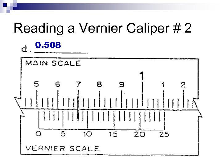 Reading a Vernier Caliper # 2 0. 508