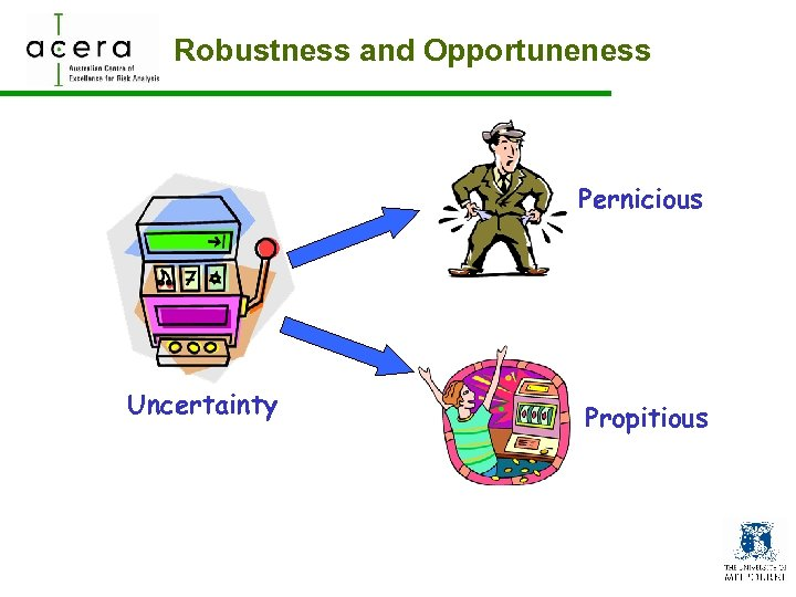 Robustness and Opportuneness Pernicious Uncertainty Propitious