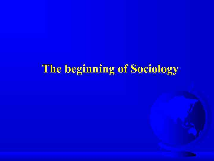 emergence of sociology introduction