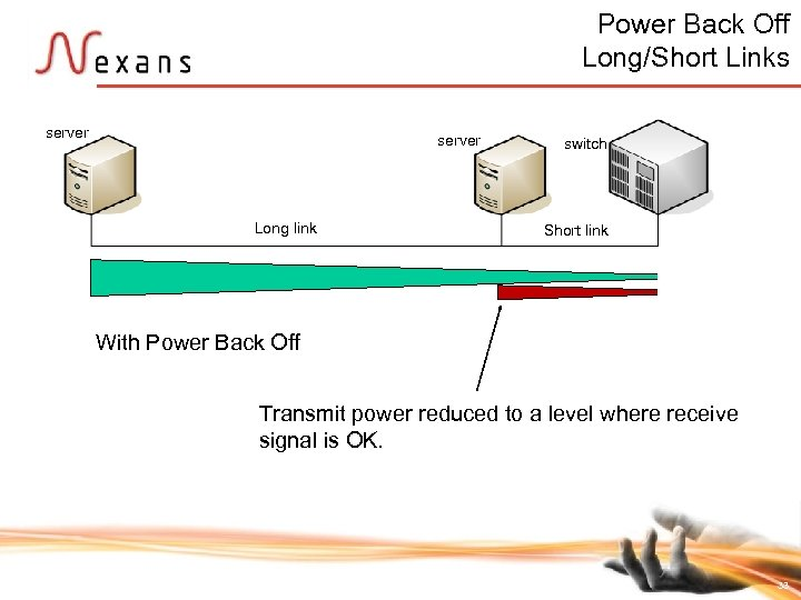 Power Back Off Long/Short Links server Long link With Power Back Off switch Short