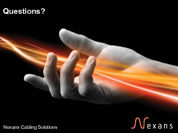 Questions? Nexans Cabling Solutions 75