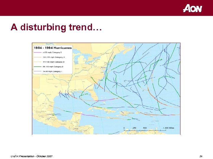 A disturbing trend… U of H Presentation - October 2007 31