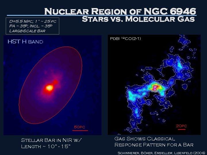"Nuclear Region of NGC 6946 Stars vs. Molecular Gas D=5. 5 Mpc; 1"" ~"