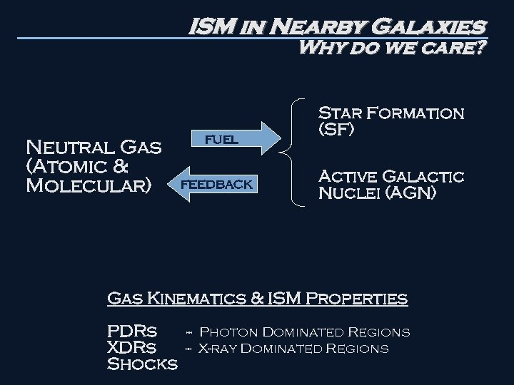 ISM in Nearby Galaxies Why do we care? Neutral Gas (Atomic & Molecular) fuel